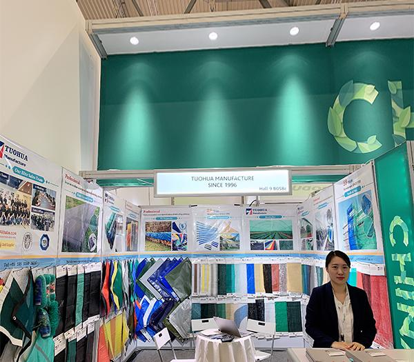 Tarpaulin on Exhibition in cologne Germany